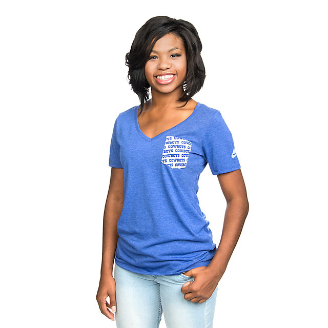 Dallas Cowboys Nike Historic Pocket V-Neck Tee