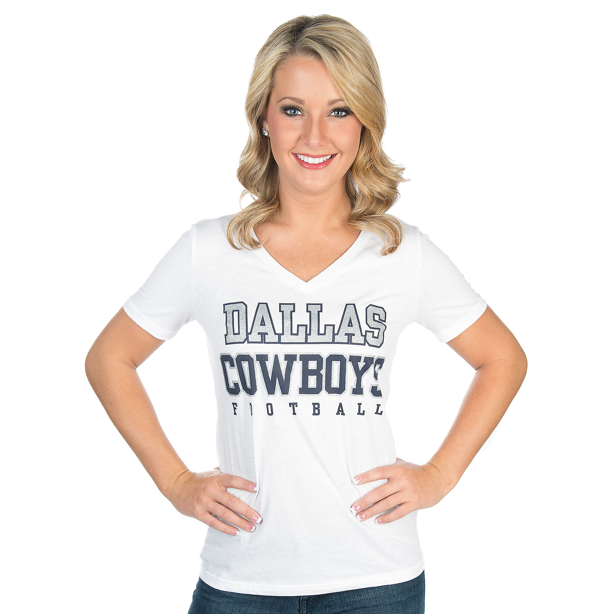 Dallas Cowboys Practice Glitter Tee