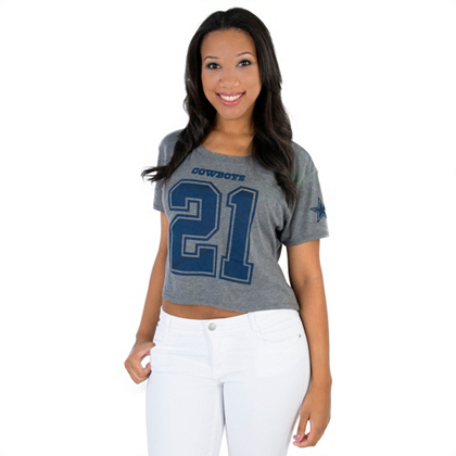 edeca19b ... T-Shirt Dallas Cowboys Ezekiel Elliott Crop Top Short Sleeve Tops Womens  Cowboys Catalog Dallas Cowboys Pro Shop ...