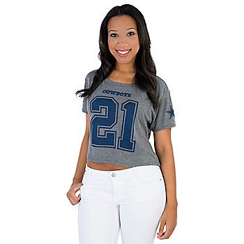 Dallas Cowboys Ezekiel Elliott Crop Top