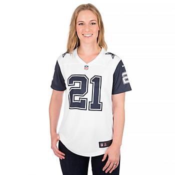 Dallas Cowboys Womens Ezekiel Elliott #21 Nike Legend Color Rush Jersey