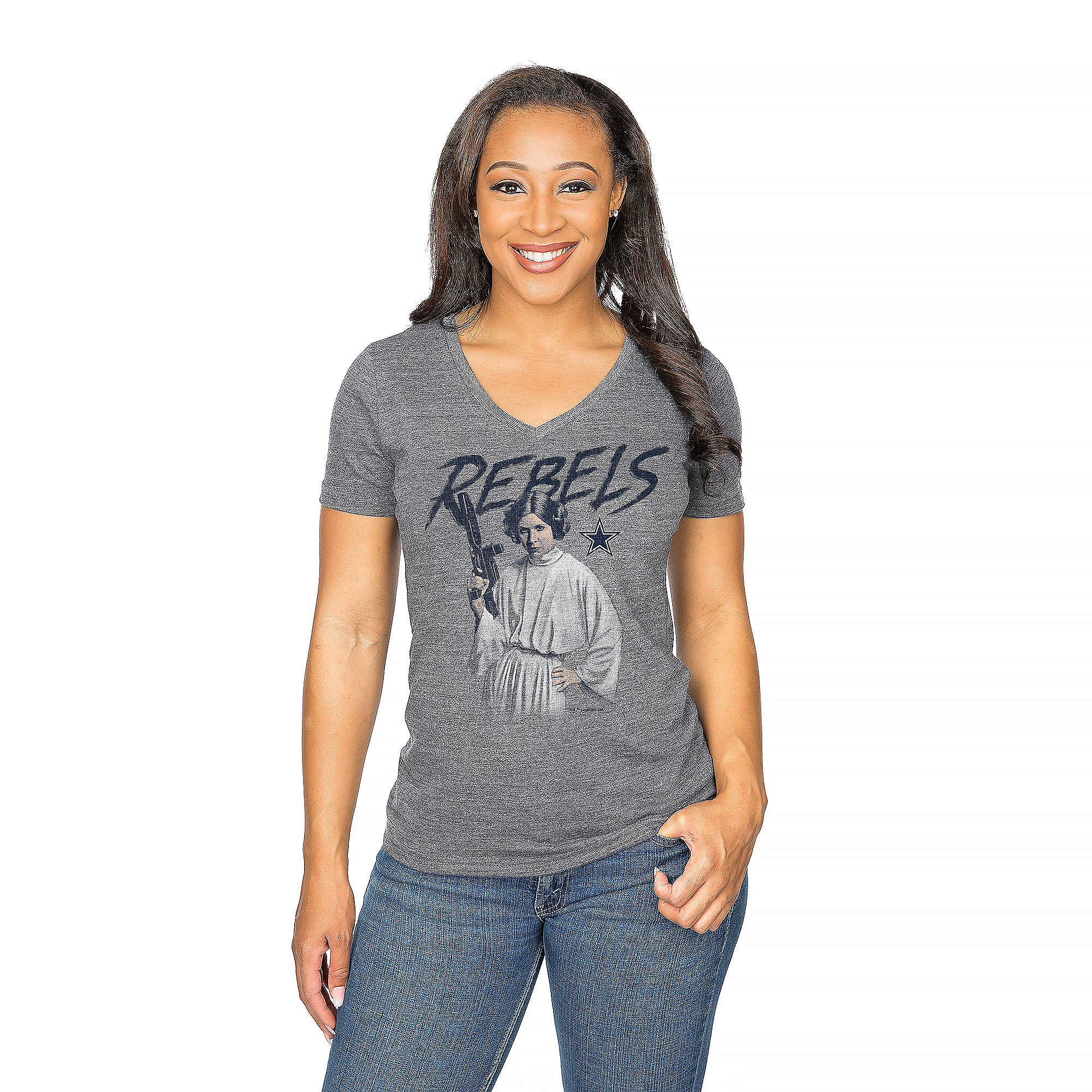 Dallas Cowboys Star Wars Princess Leia Rebels Tee