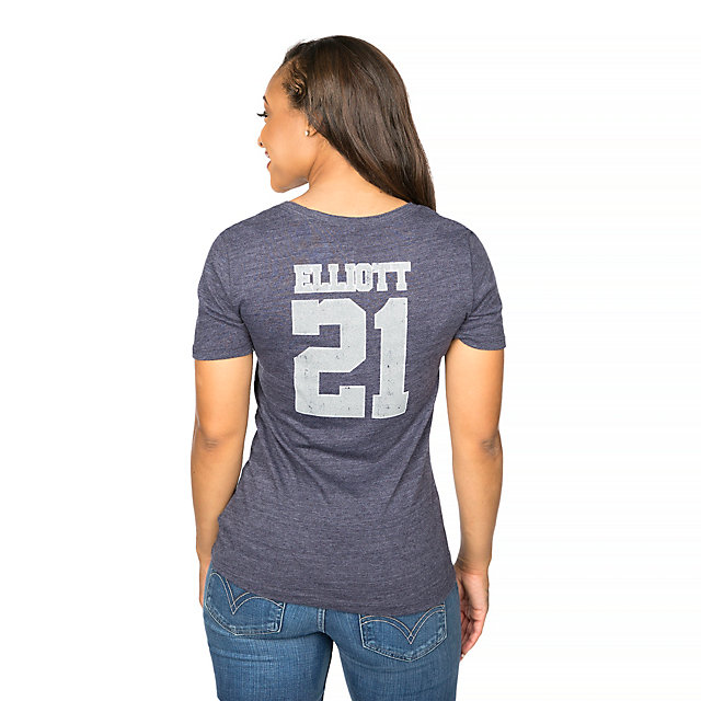 Dallas Cowboys Ezekiel Elliott #21 Dallas Name & Number Tee