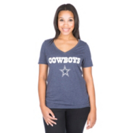 Dallas Cowboys Nike Womens Tri Wordmark Star Tee
