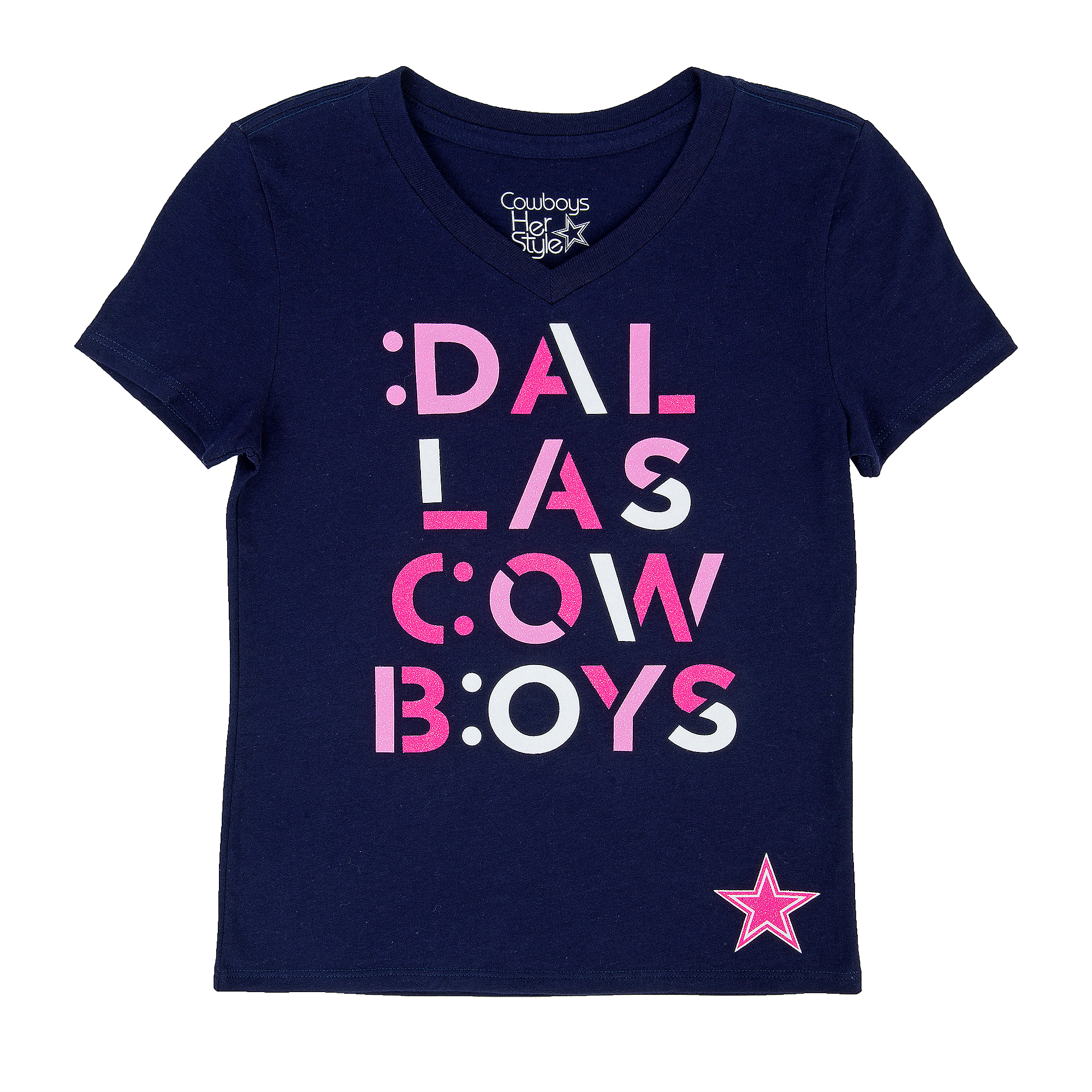 Dallas Cowboys Girls Basset Tee