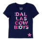 Dallas Cowboys Girls Basset Tee