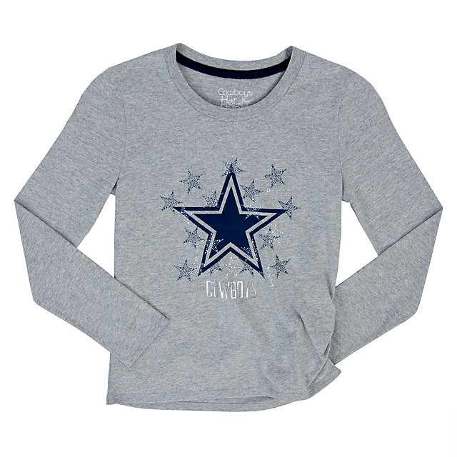 Dallas Cowboys Girls Zamora Long Sleeve Tee