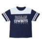 Dallas Cowboys Youth Charlie Colorblock Short Sleeve Tee
