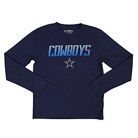 Dallas Cowboys Youth Glanton Long Sleeve Performance Tee