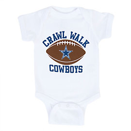Dallas Cowboys Infant Crawl Walk Cowboys Bodysuit