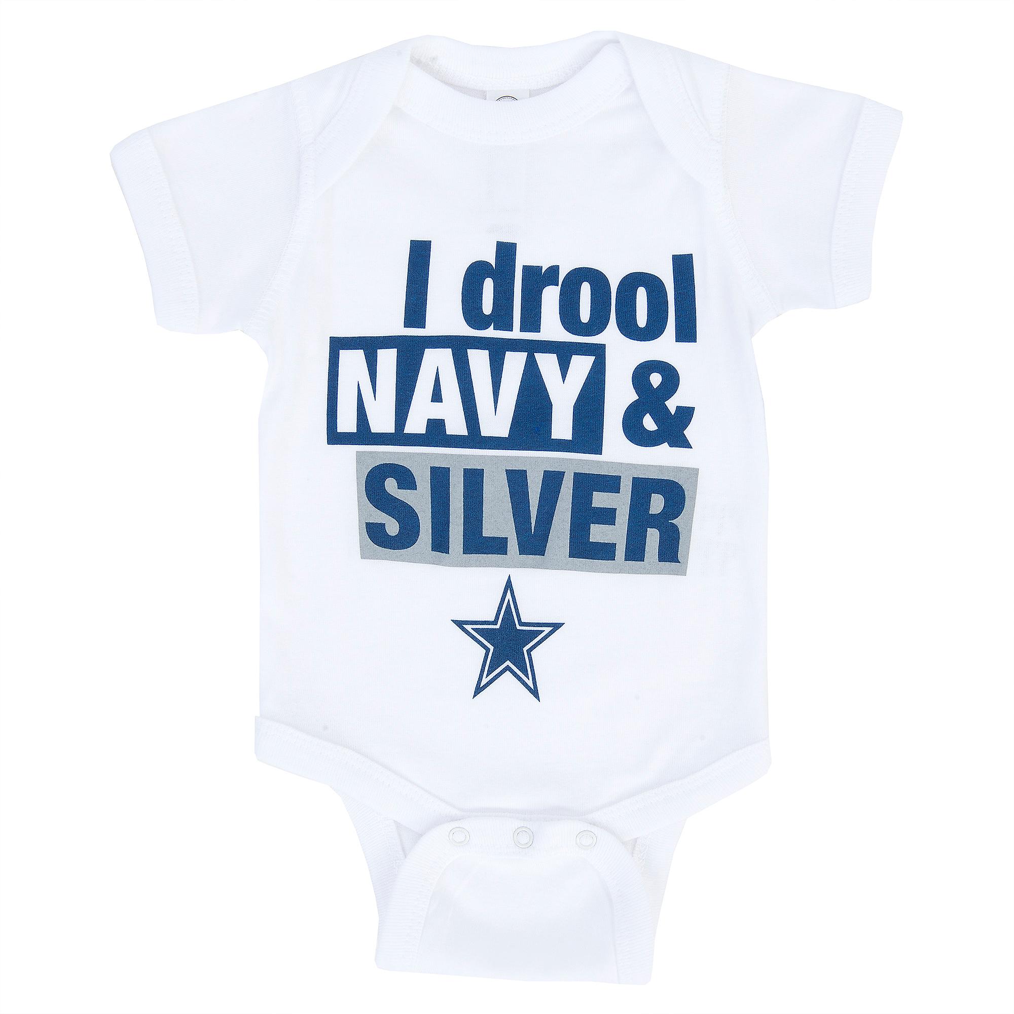 Dallas Cowboys Infant Drool Navy Bodysuit