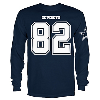 Dallas Cowboys Youth Jason Witten #82 Long Sleeve Player Tee