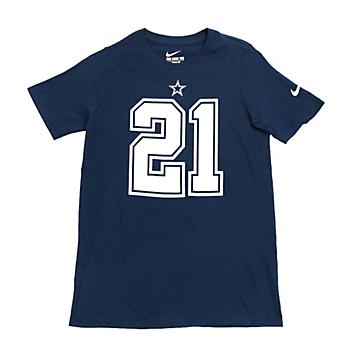 Dallas Cowboys Youth Ezekiel Elliott #21 Nike Name and Number T-Shirt