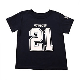 Dallas Cowboys Kids Ezekiel Elliott #21 Name and Number Tee