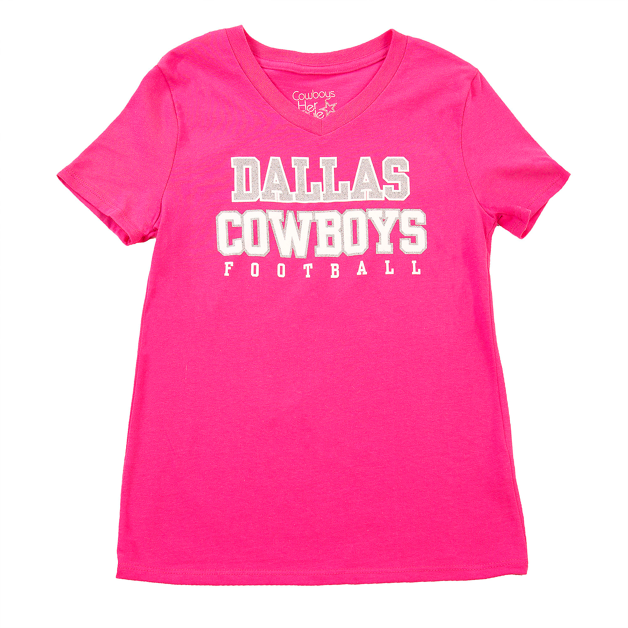 Dallas Cowboys Girls Practice Glitter Tee