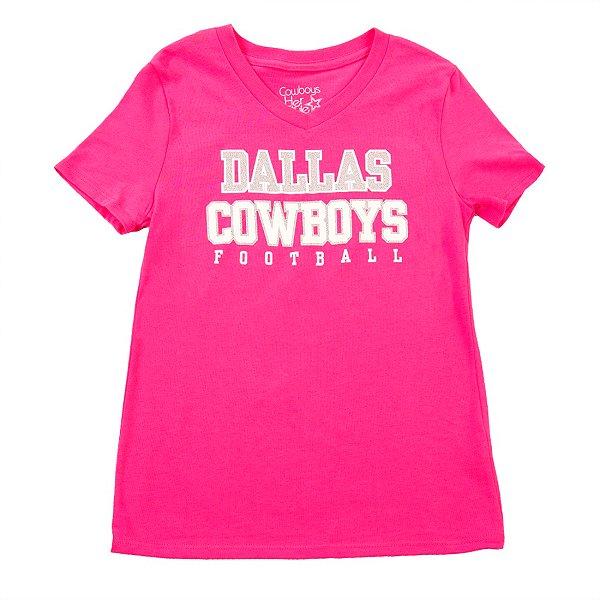 Dallas Cowboys Girls Practice Glitter T-Shirt