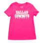 Dallas Cowboys Girls Practice Glitter T-Shirt
