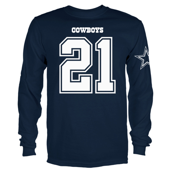 Dallas Cowboys Youth Ezekiel Elliott #21 Long Sleeve Player Tee