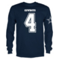 Dallas Cowboys Youth Dak Prescott #4 Long Sleeve Player Tee