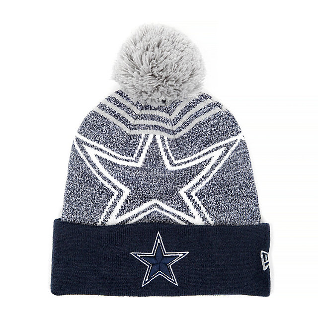 Dallas Cowboys New Era Pom Logo Knit Hat