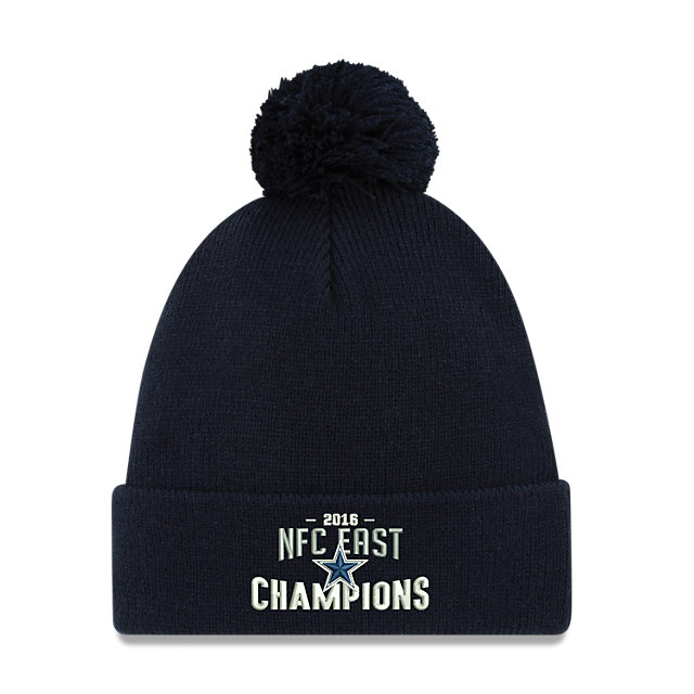 Dallas Cowboys New Era 2016 NFC East Division Champs Pom Knit Hat