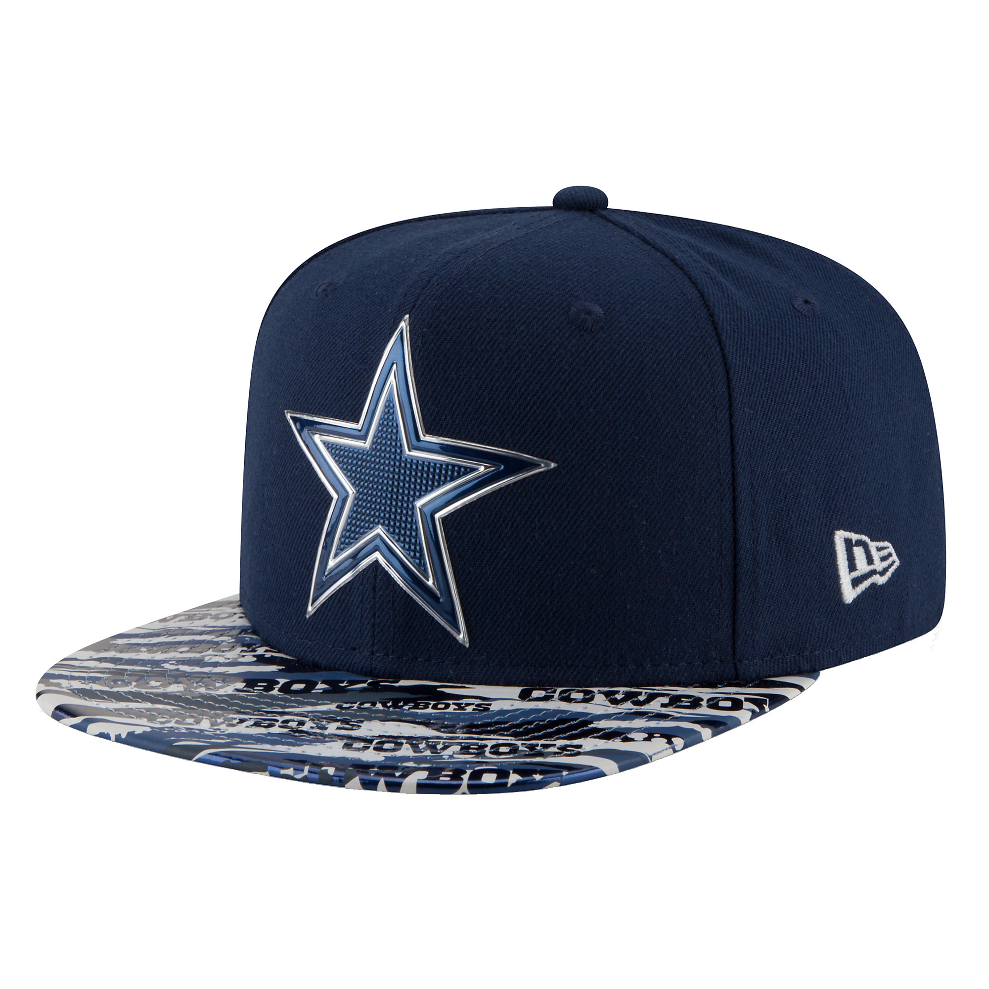 Dallas Cowboys New Era Youth On Field Kickoff Print 9Fifty Cap