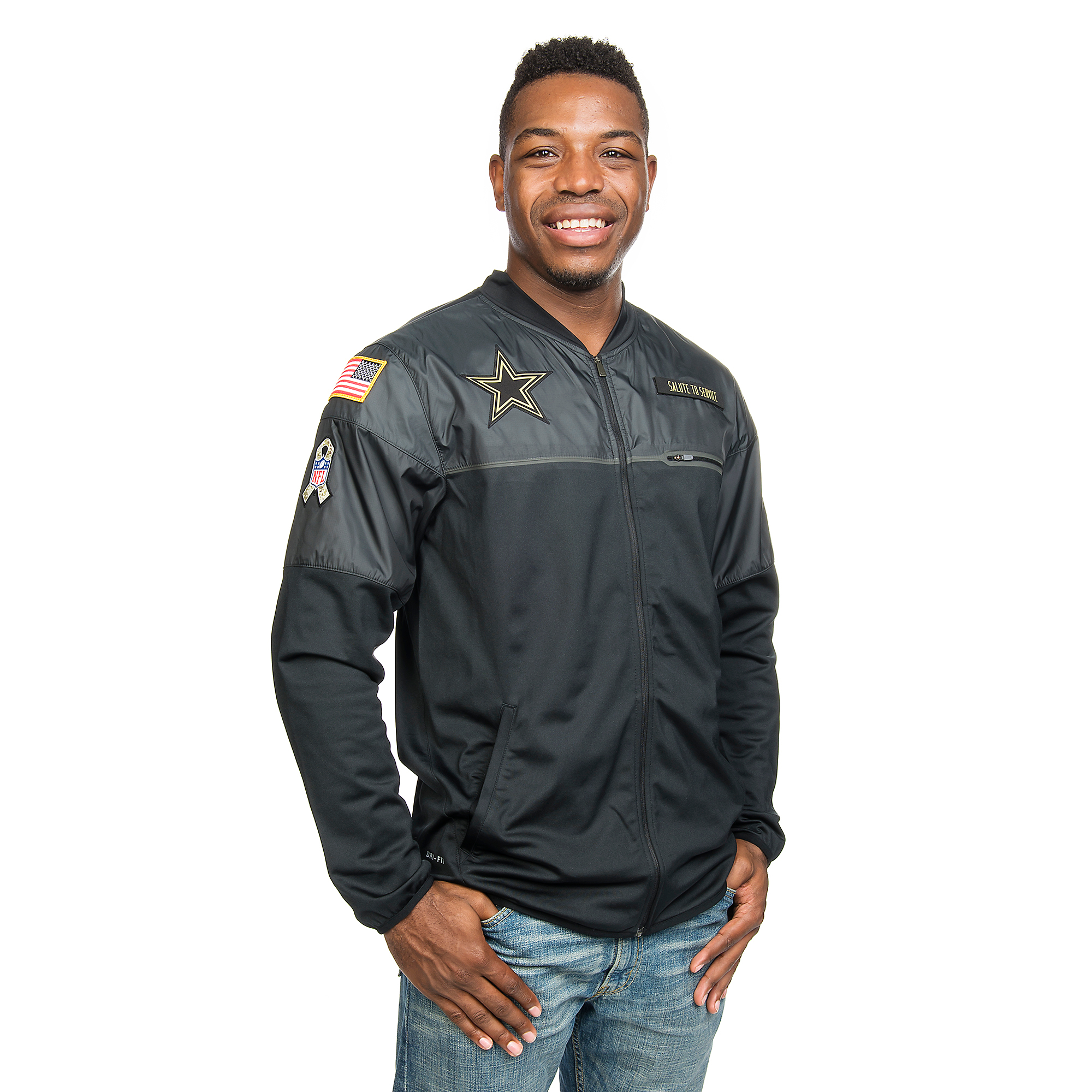 new style e473a 41c7d Dallas Cowboys Nike Salute to Service Hybrid Jacket | Fans ...