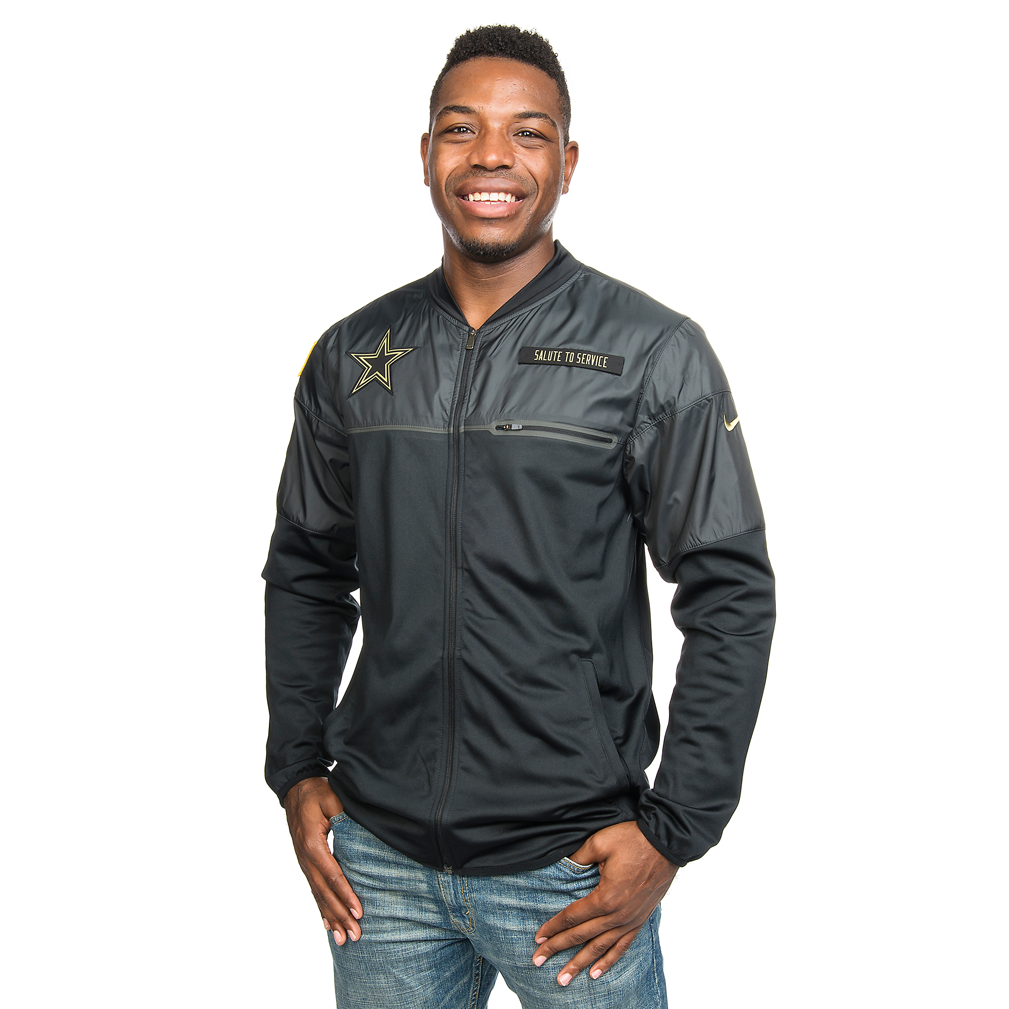 the best attitude 941d9 ba40d Dallas Cowboys Nike Salute to Service Hybrid Jacket