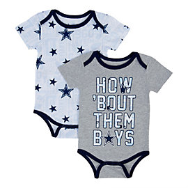 Dallas Cowboys Infant Musgrove 2 Pack Bodysuit Set