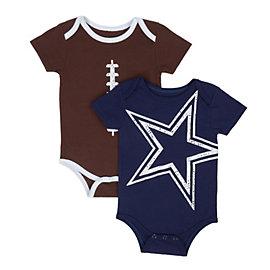 Dallas Cowboys Meeks 2 Pack Bodysuit Set
