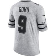 Dallas Cowboys Tony Romo #9 Nike Gridiron Grey Jersey