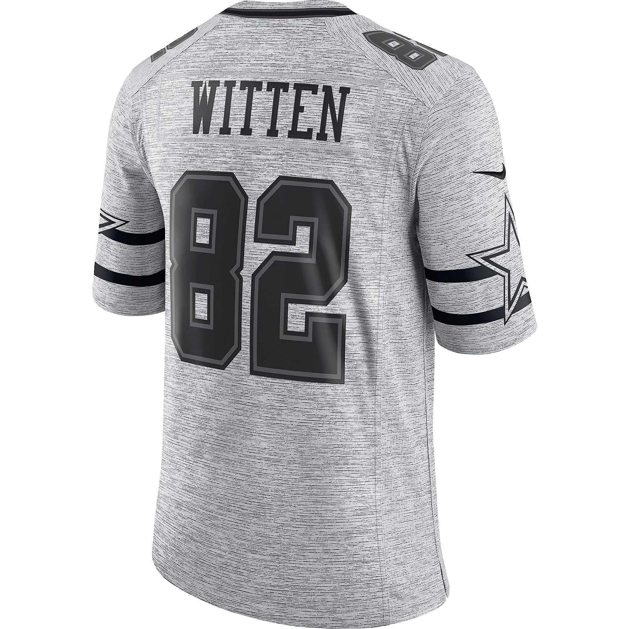 Dallas Cowboys Jason Witten #82 Nike Gridiron Grey Jersey