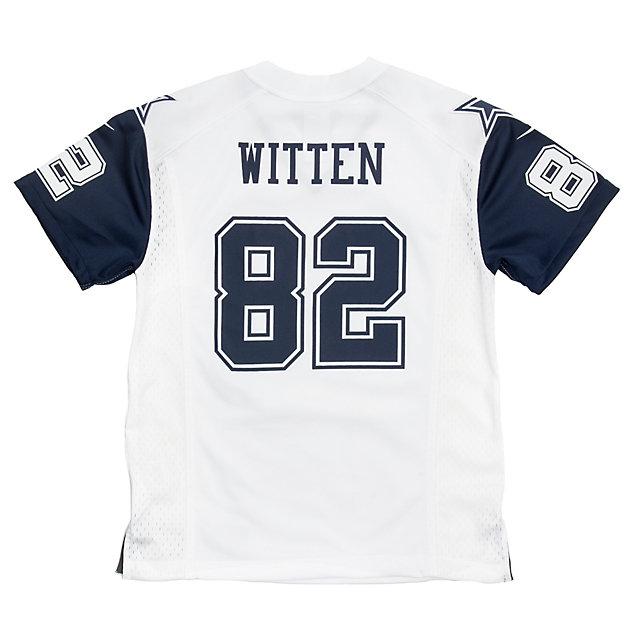 on sale 19602 25a93 nike dallas cowboys 82 jason witten white game kids jersey