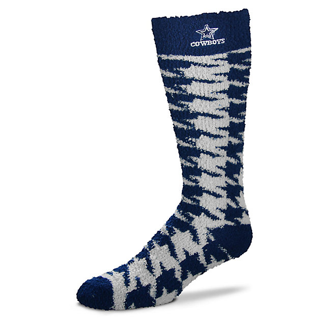 Dallas Cowboys Houndstooth Knee High Sleep Socks