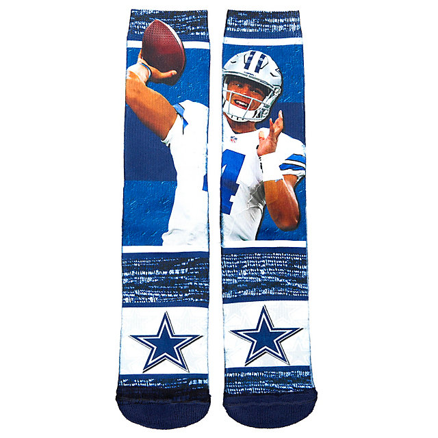 Dallas Cowboys Dak Prescott Sublimated Rush Socks
