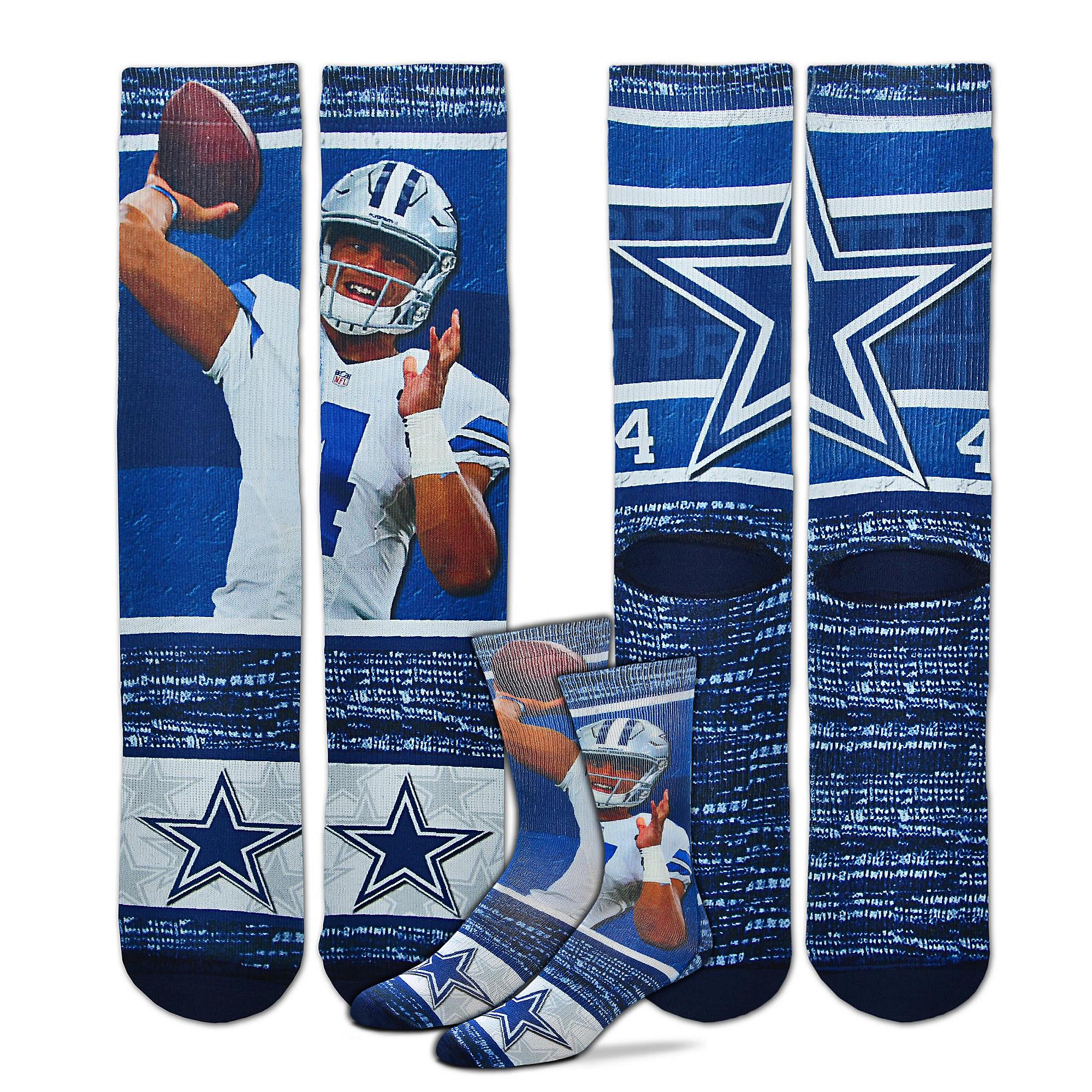 new concept 7130e 89019 Dallas Cowboys Youth Dak Prescott Sublimated Rush Socks ...