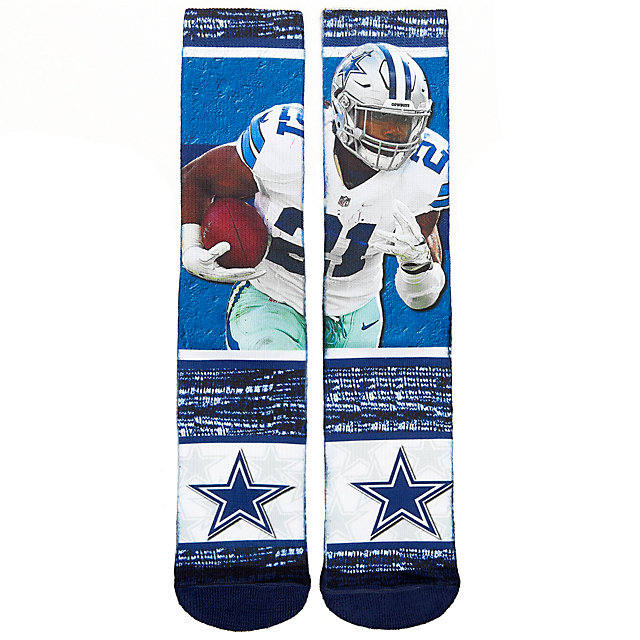 Dallas Cowboys Ezekiel Elliott Sublimated Rush Socks