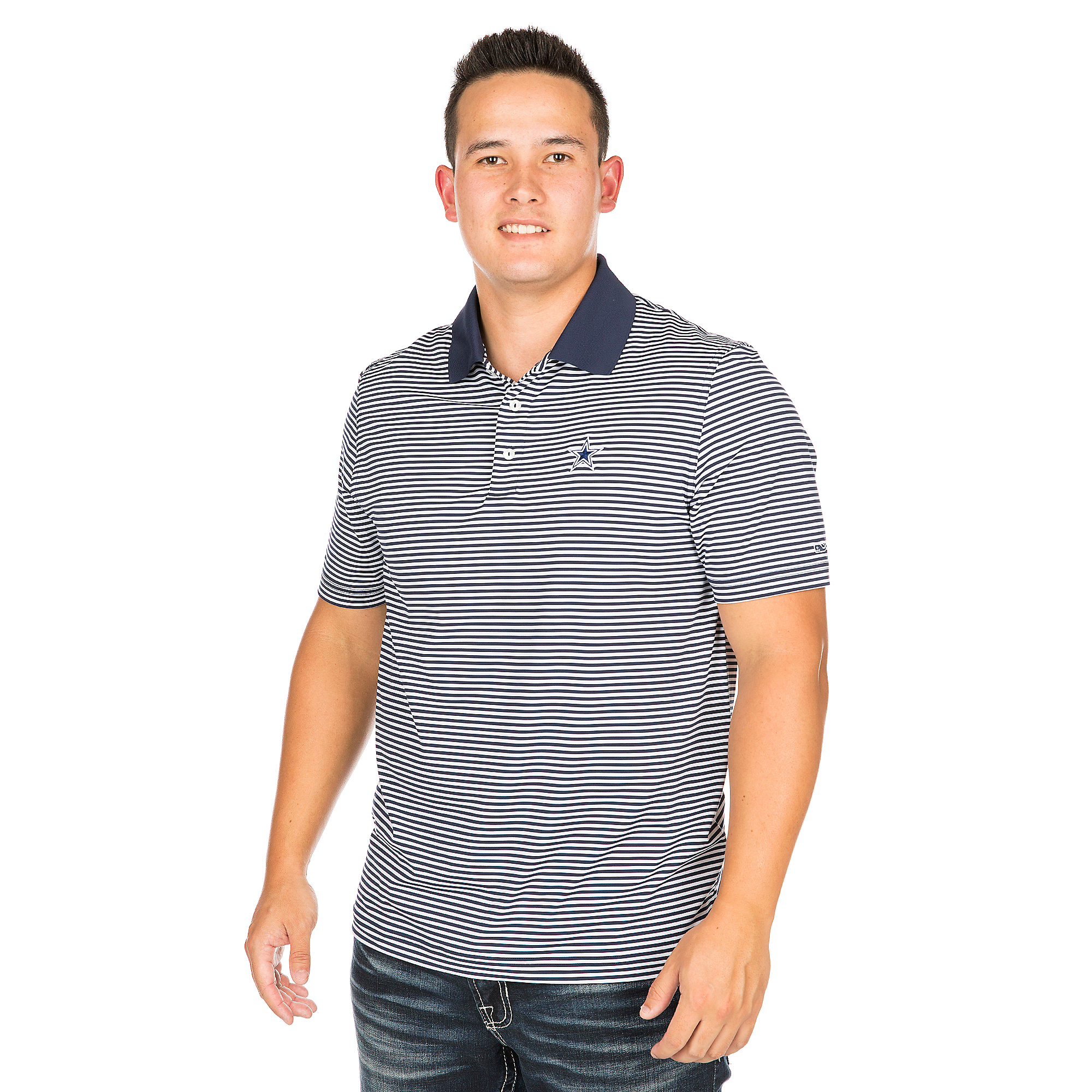 ba89d45cbade Dallas Cowboys Vineyard Vines Porter Stripe Polo