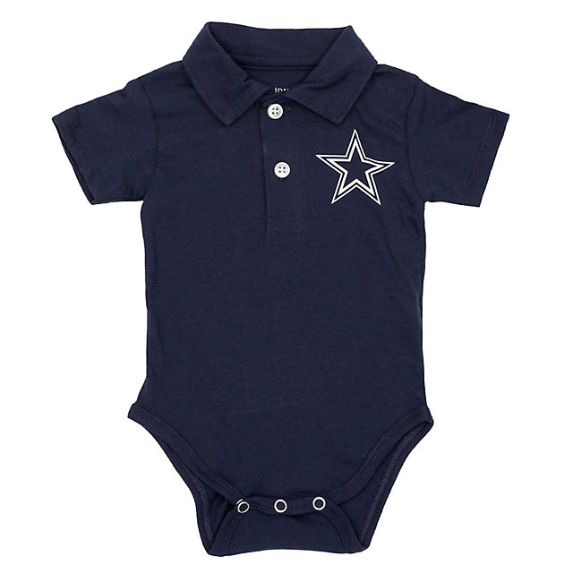 Dallas Cowboys Infant Curt Polo Bodysuit
