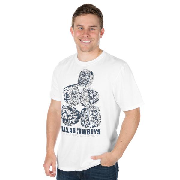 Dallas Cowboys Rings Stack Short Sleeve T-Shirt