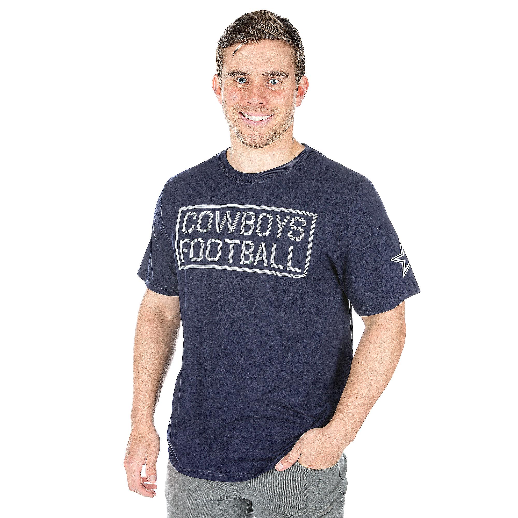 Dallas Cowboys Mens Block Fighter Short Sleeve T-Shirt