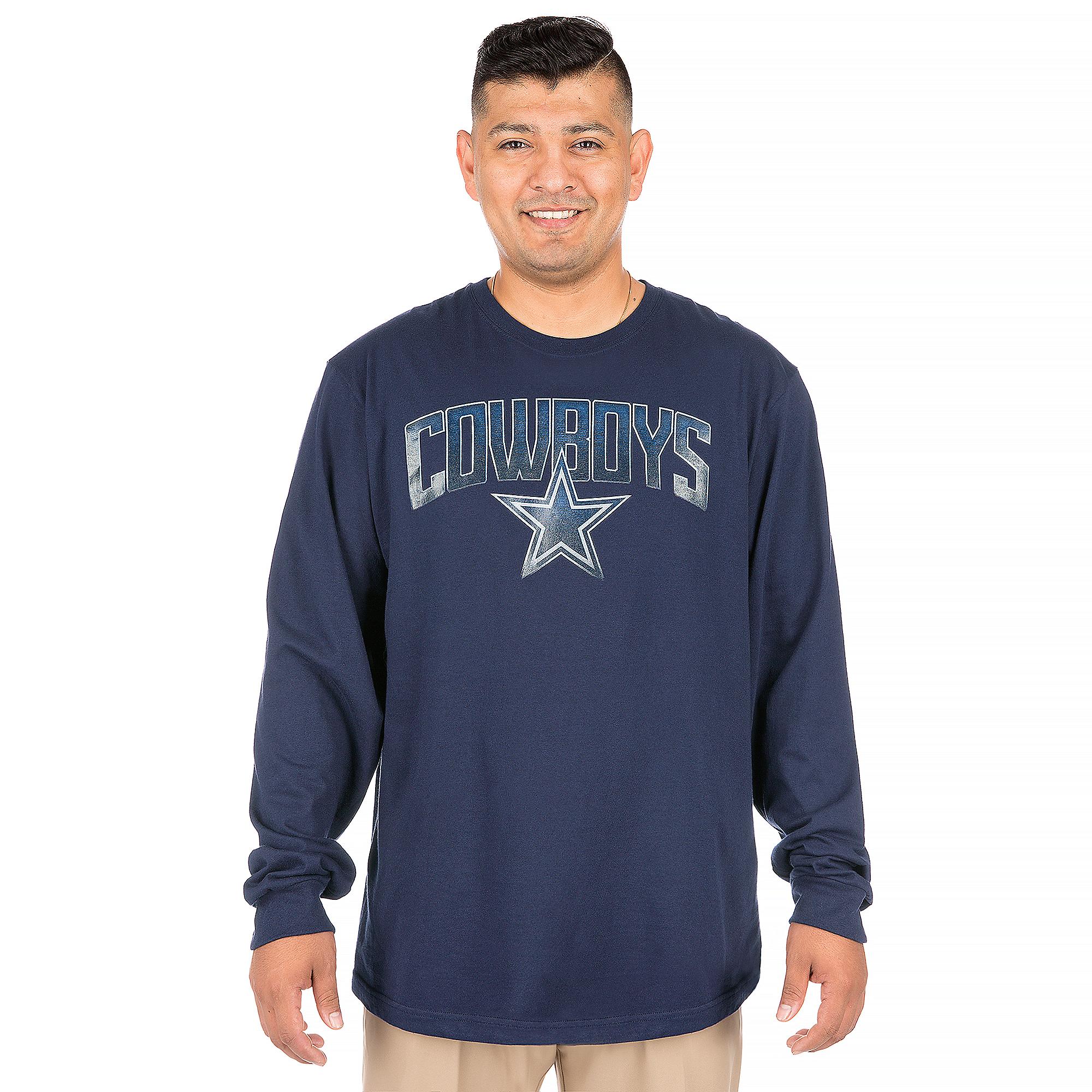 Dallas Cowboys Rescender Wave Long Sleeve Tee