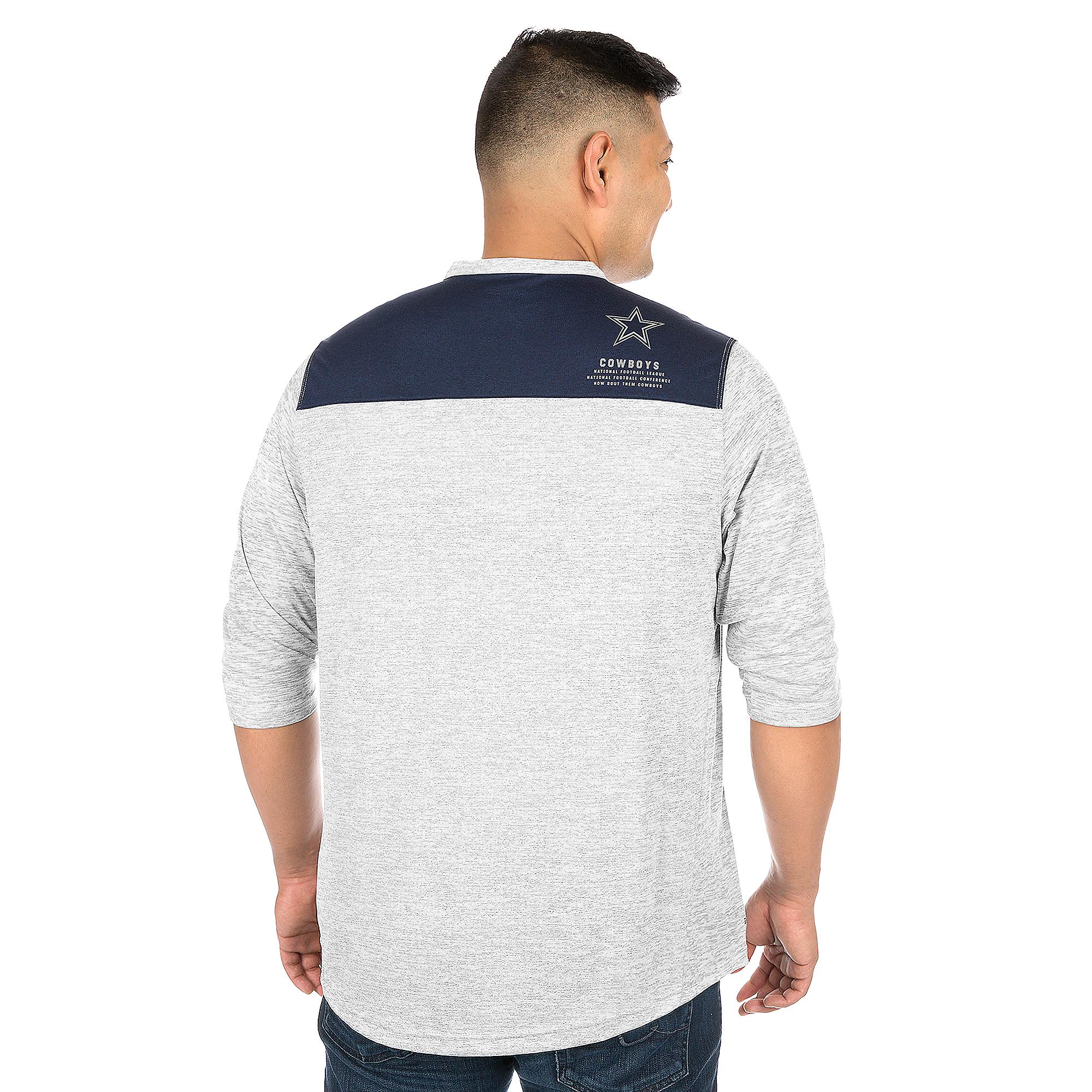 2b78320aa Dallas Cowboys Nike 3QT Henley Top | Dallas Cowboys Pro Shop