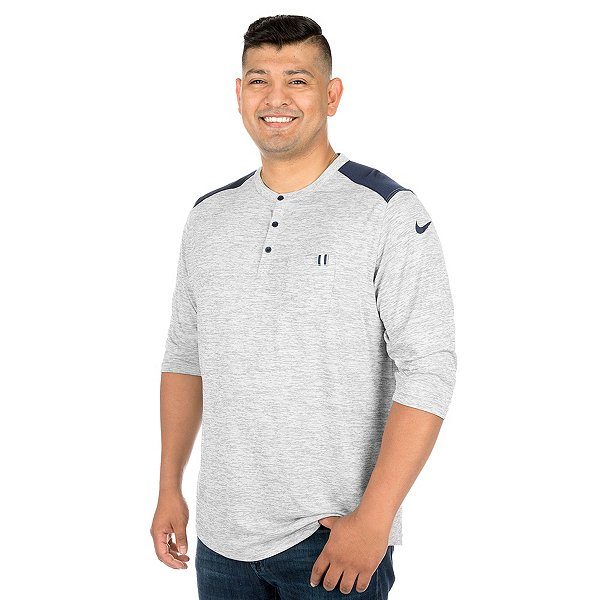 Dallas Cowboys Nike 3QT Henley Top