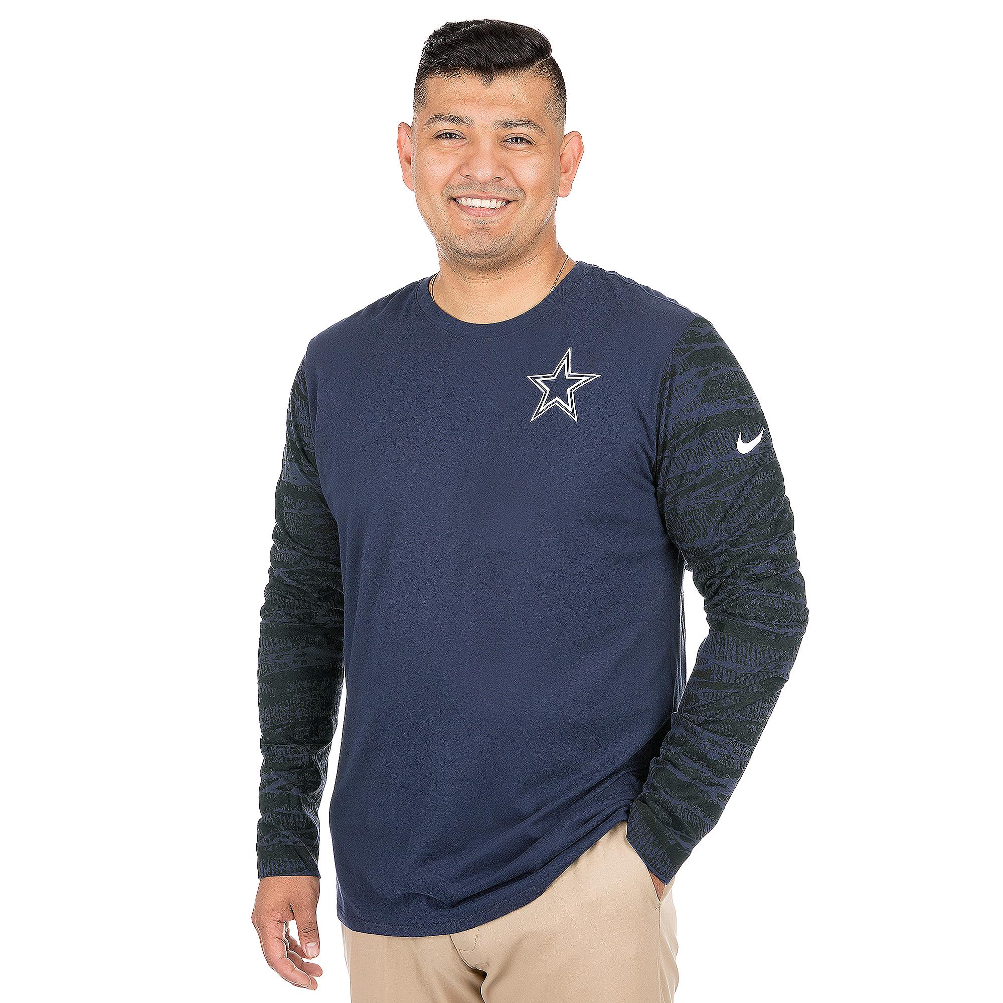 Dallas Cowboys Nike Enzyme Pattern Long Sleeve Tee