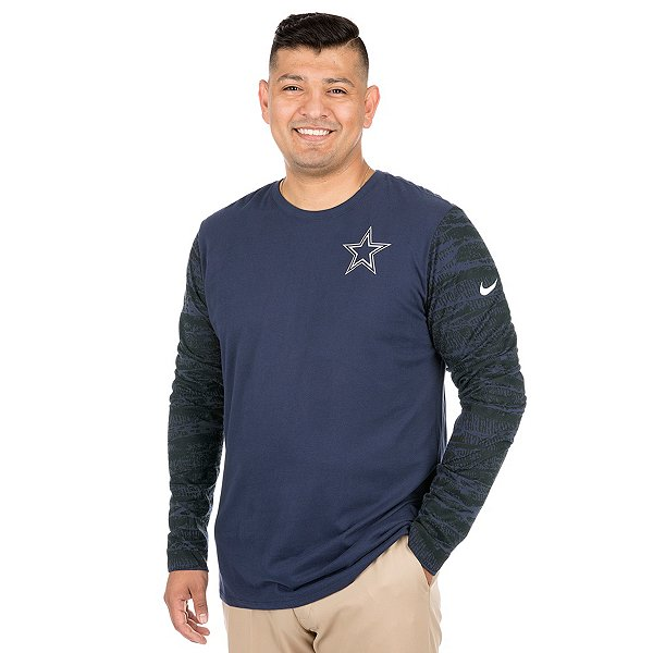 Dallas Cowboys Nike Enzyme Pattern Long Sleeve Tee