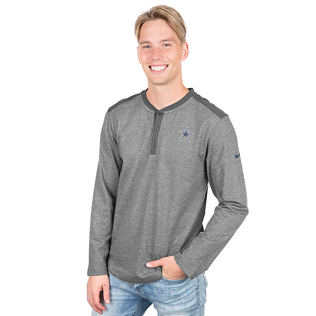Dallas Cowboys Nike Long Sleeve Henley Top