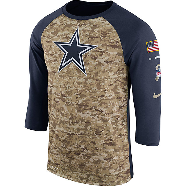 Dallas Cowboys Nike Mens Salute to Service Raglan Tee