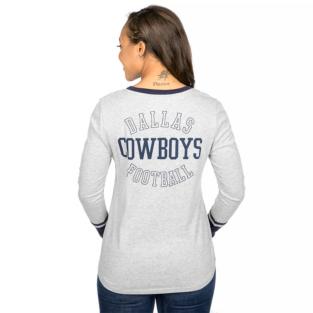 Dallas Cowboys Jackie Long Sleeve Henley