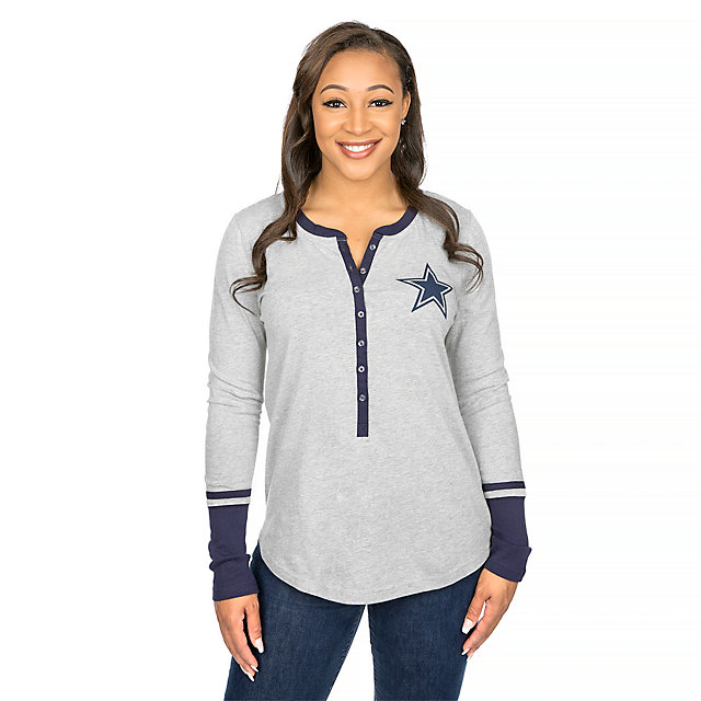 Dallas Cowboys Jackie Long Sleeve Henley
